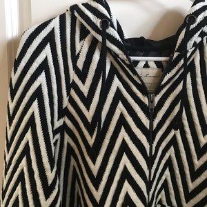 Evy's Tree Jackets & Coats - EVYS TREE Lucy in Chevron Black White - SZ Small
